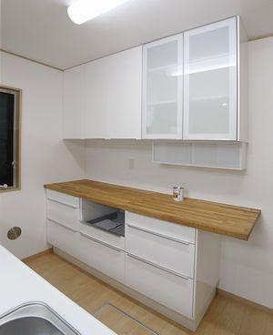 Ikeaオーダー食器棚の事例 戸建住宅横浜市 W200cm Ikea食器棚 食器棚 Ikea カウンターキッチン レイアウト Ikea カップボード