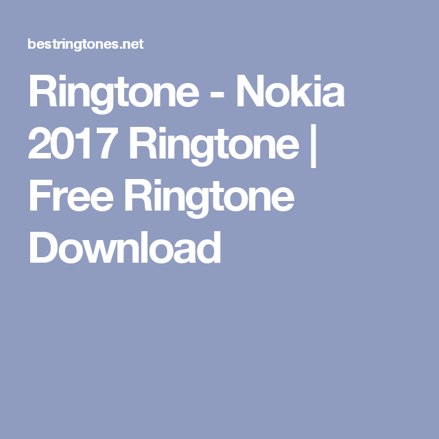 Nokia ringtone free download