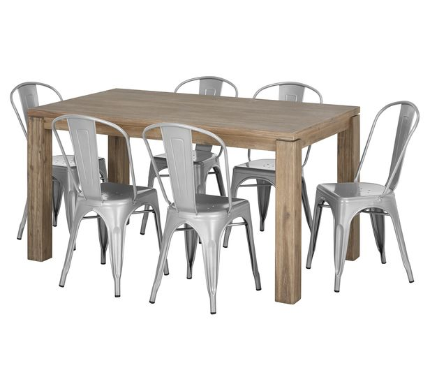 Toronto 7 Piece Dining Set With Worx Chairs