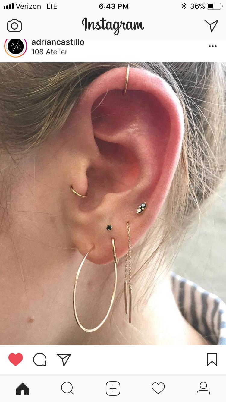 Earlobe piercing bump  Pin by Caroline Marie on Piercings  Pinterest  Piercings Ear