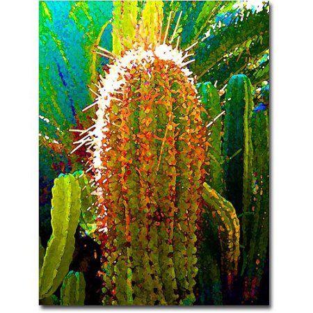 Trademark Fine Art Tall Cactus Canvas Wall Art by Amy Vangsgard, Size: 35 x 47, Multicolor