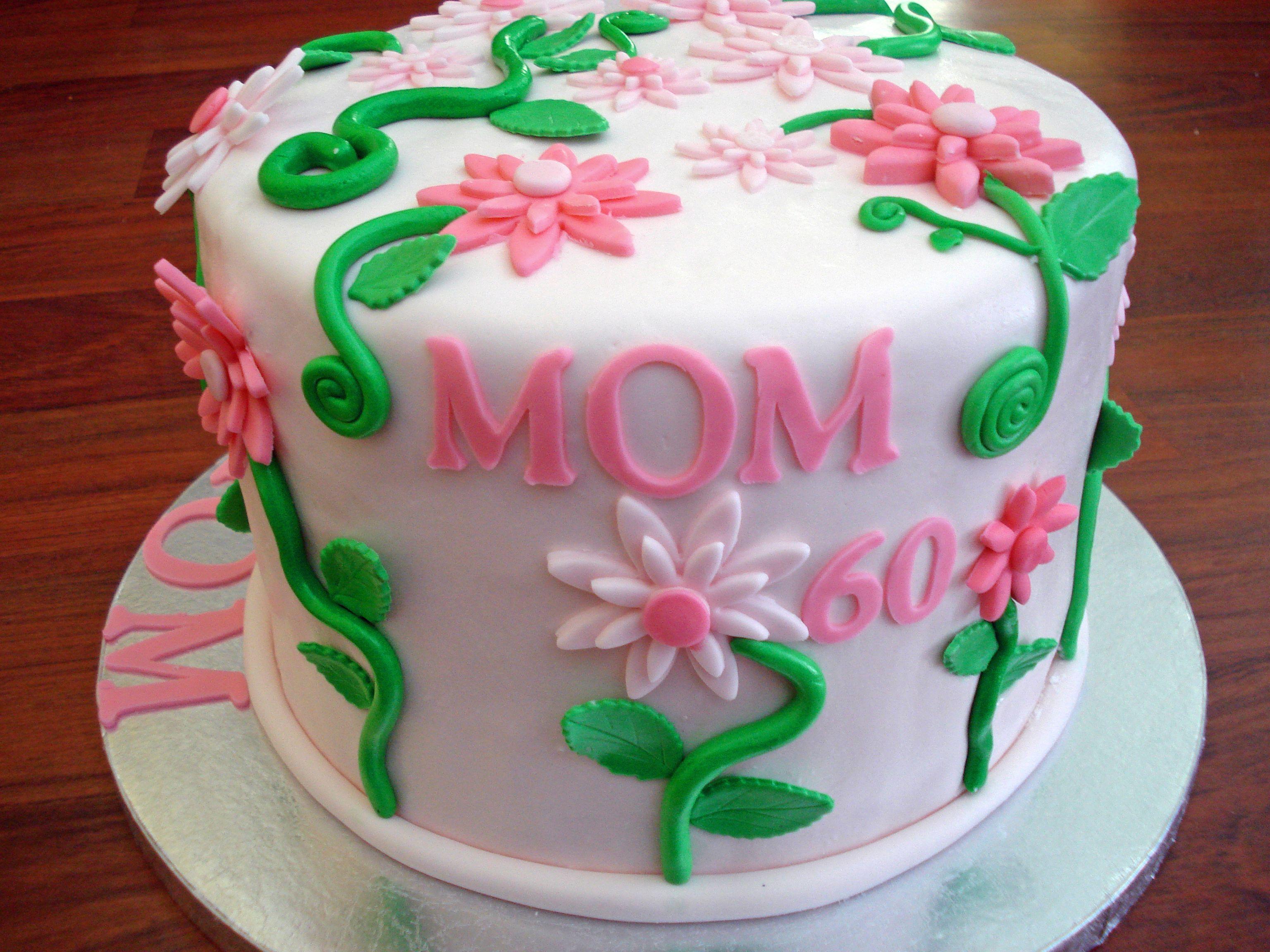 A start Mom cakes Pinterest 60th birthday cakes ...