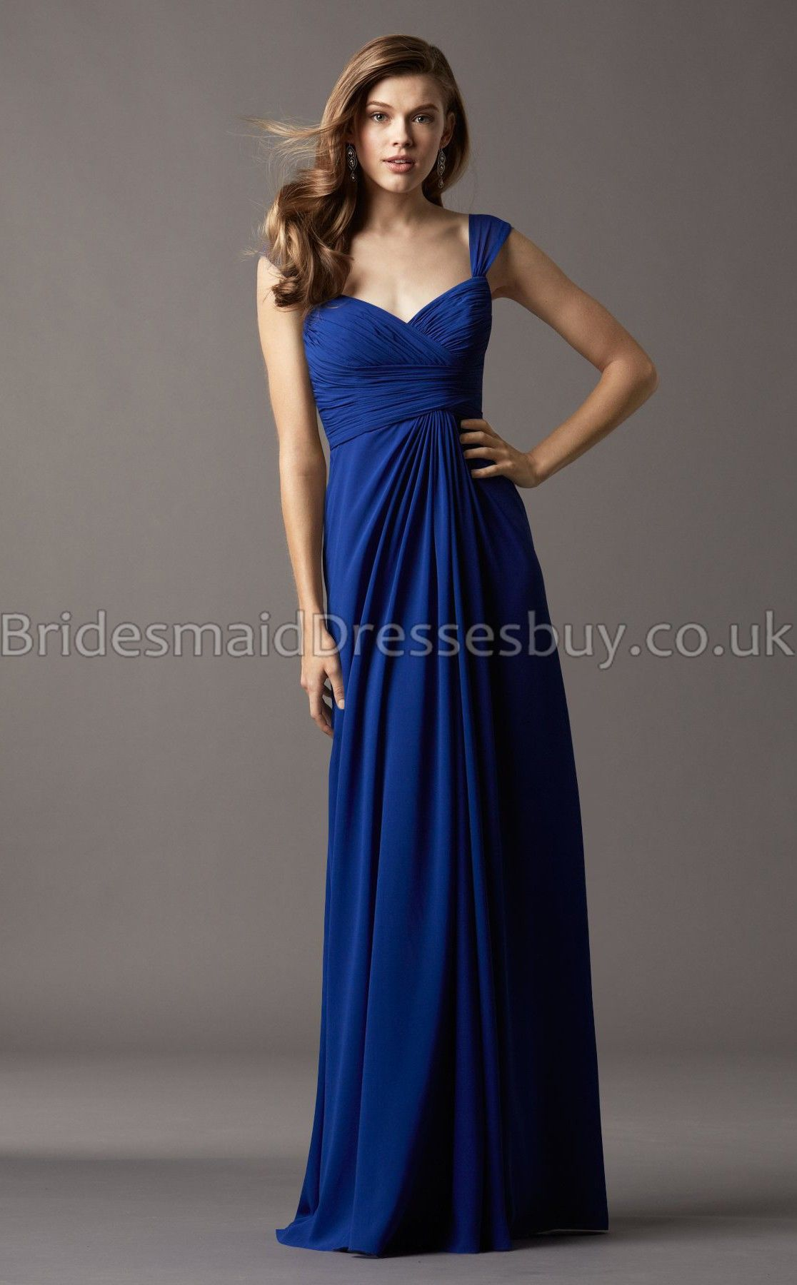 A line v neckstraps royal blue chiffon long bridesmaid dresses cheap cap sleeve floor length long royal blue chiffon draped bridesmaid dress is on sale buy cap sleeve floor length long royal blue chiffon draped ombrellifo Image collections