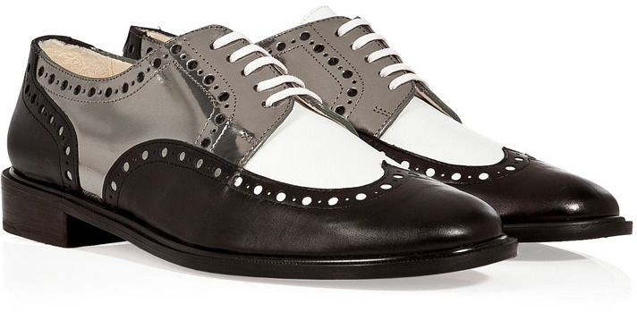 Robert Clergerie Leather Colorblock Brogues