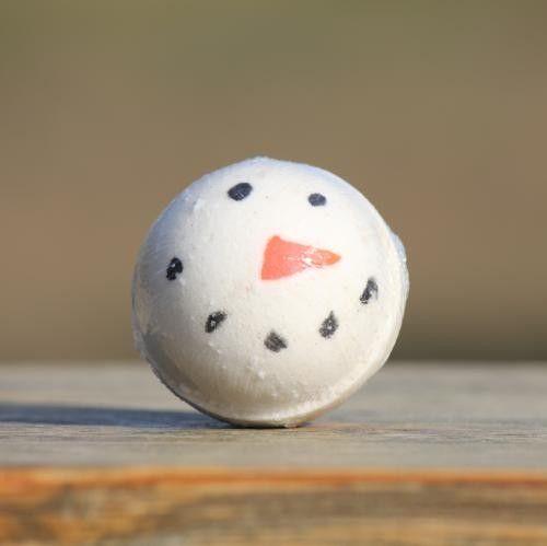 Snowman Peppermint Goat Milk Bath Bomb #fallmilkbath