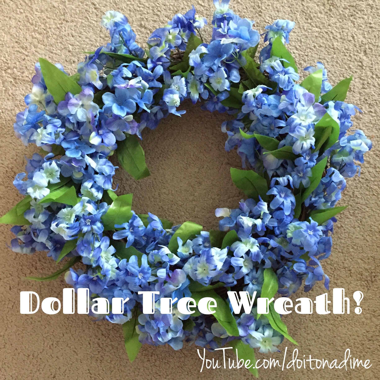 9 Dollar Tree Wreath! Buy 9 sprigs of dollar tree flowers
