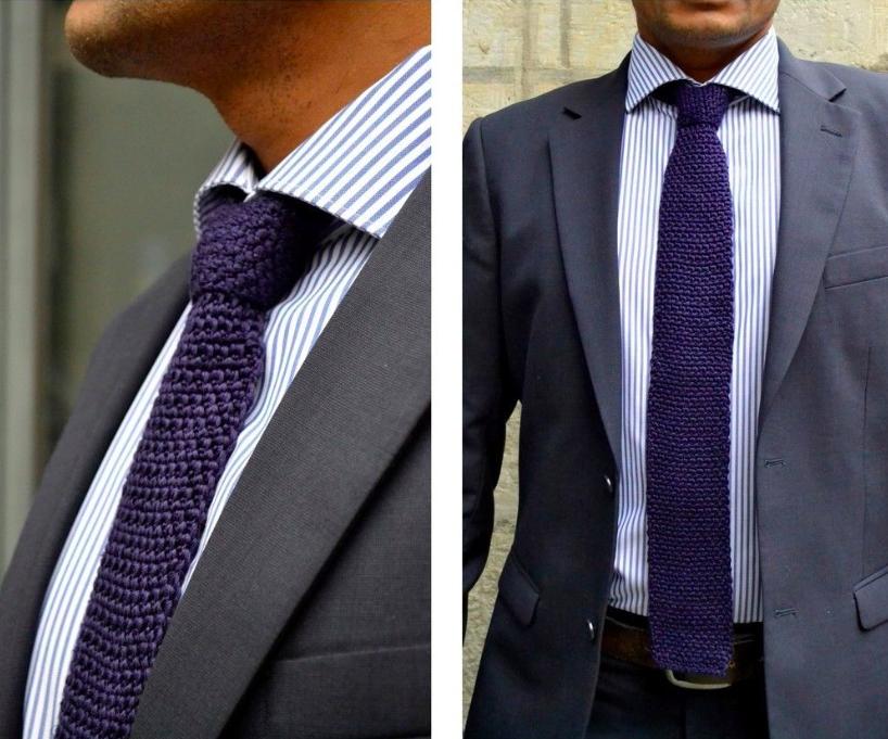 Gehäkelte Krawatten sind längst wieder en vogue! Anleitung via ...
