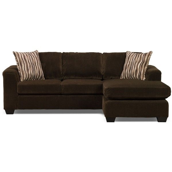 Nina 2 Piece Microsuede Sectional With Chaise Chocolate 139