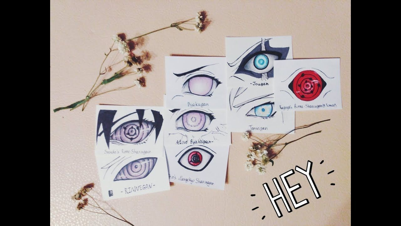 Drawing All Sharingan Forms Evolution Of Sharingan Rinnegan Byakugan Tenseigan And Jougan Youtube Drawings All Sharingan Pencil Drawings