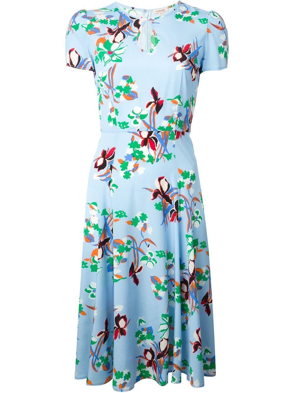 P.a.r.o.s.h. 'sealy' Flower Print Dress - Biffi - Farfetch.com