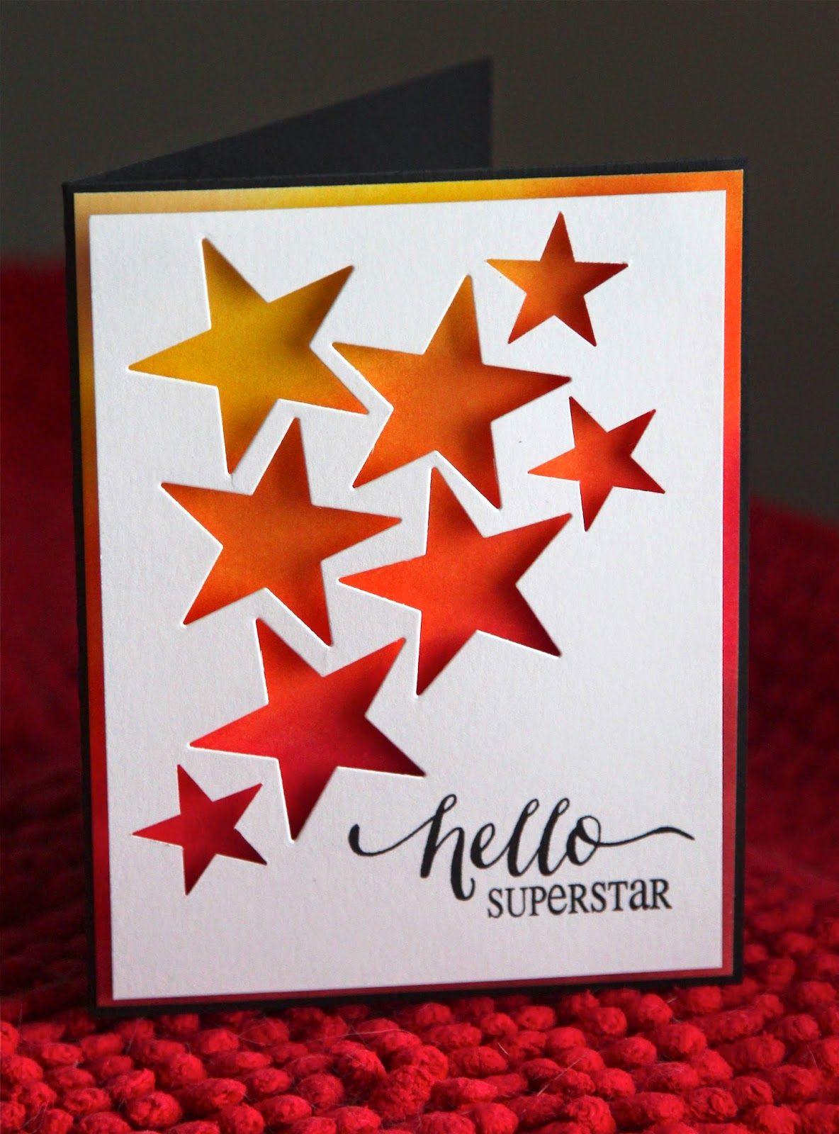 kort med stjärnog