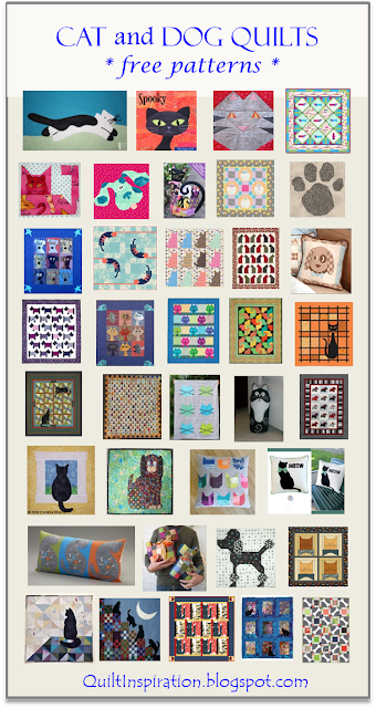 Free pattern day Cat and Dog quilts! is part of Dog quilts, Cat quilt patterns, Cat quilt, Mini quilt patterns, Quilt patterns free, Animal quilts - We are so excited to be posting a new Free Pattern Day  Here is a purr fectly wonderful collection of cat and dog quilts ! For 1000 more