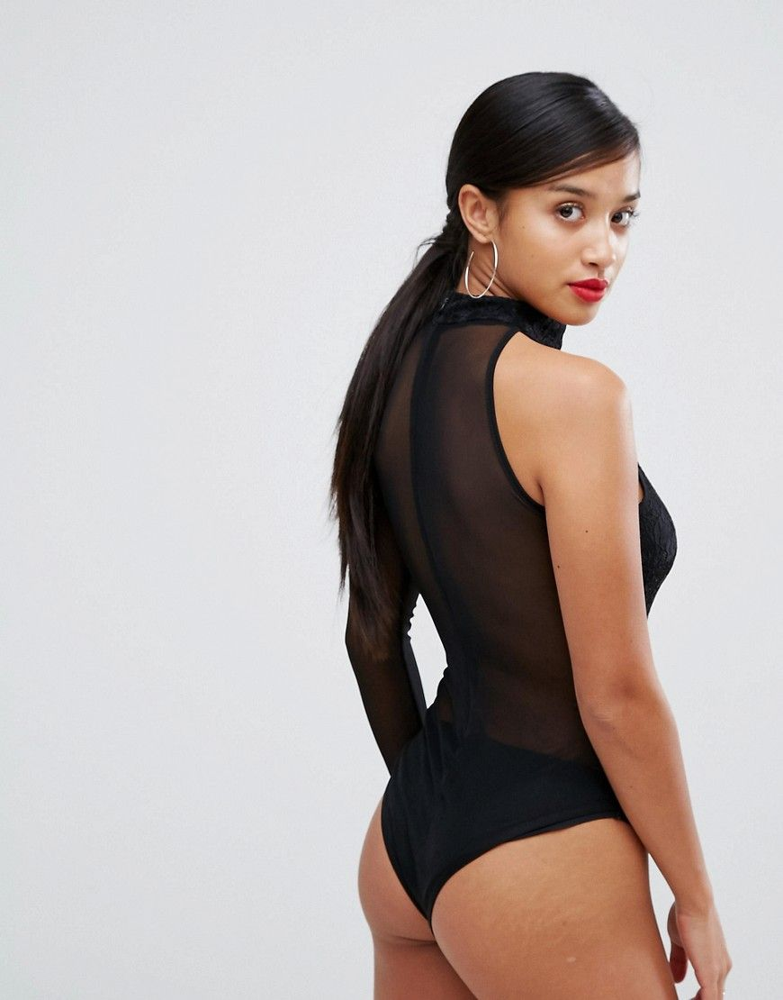 Marketable Cheap Online Store Cheap Online One Shoulder Long Sleeved Body - Black NaaNaa Petite Pick A Best Online FISQSlG