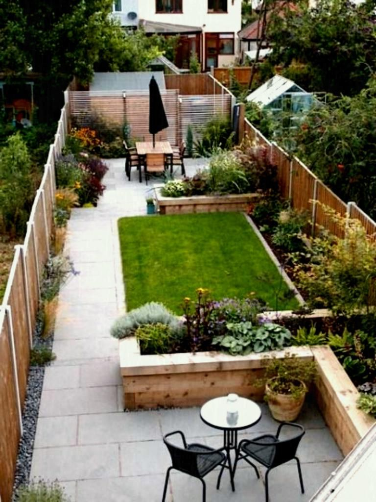 Long Narrow Backyard Design Ideas Tosmun