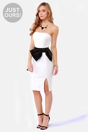5ef753ea5ea54 Alex! i want this!! U still owe me a valentines day gift!! Lol :) LULUS  Exclusive Stunning Side Up Strapless White DressLove it! $41