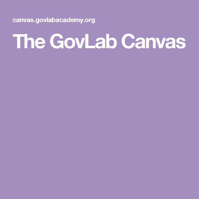 The GovLab Canvas