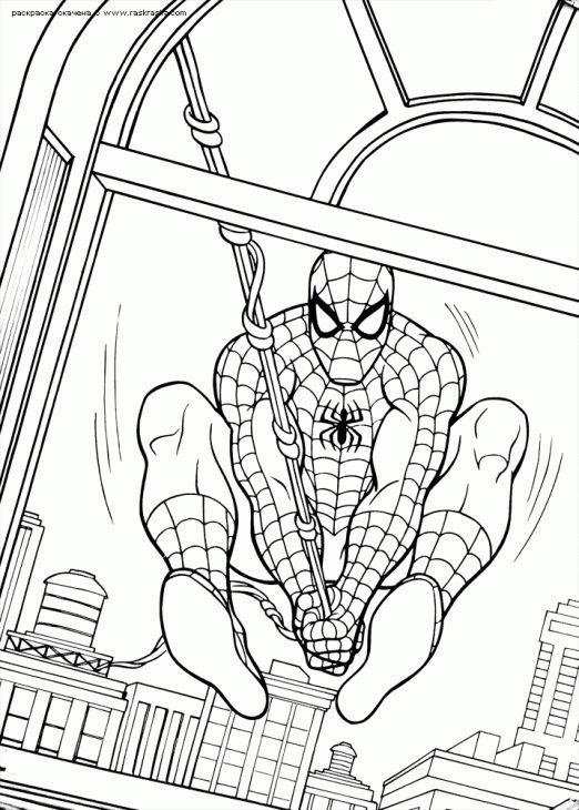 Marvel Superhero Spiderman Coloring Page Online
