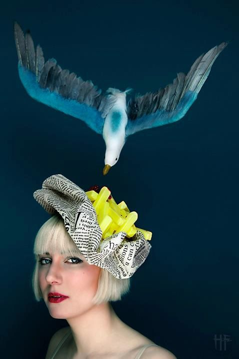 Avante Garde Bag of Chips Fascinator Seaside Quirky Surreal Outlandish odd  Headpiece on Etsy 3ba846ebbea