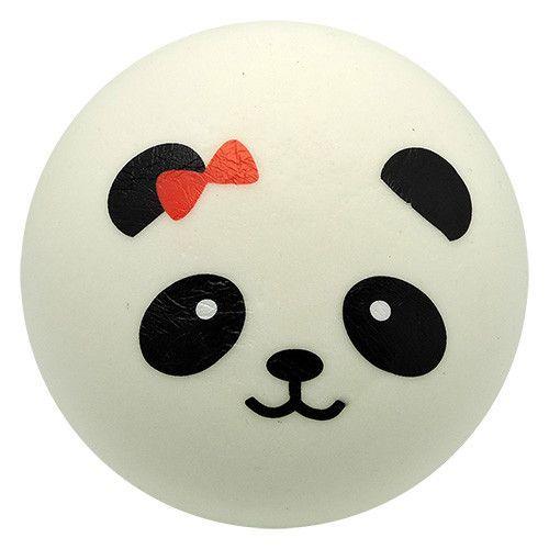 Kawaii Squishies - Panda Bun - Bow - White - Jumbo Slow Rising - Soft and Squishy Approximate ...