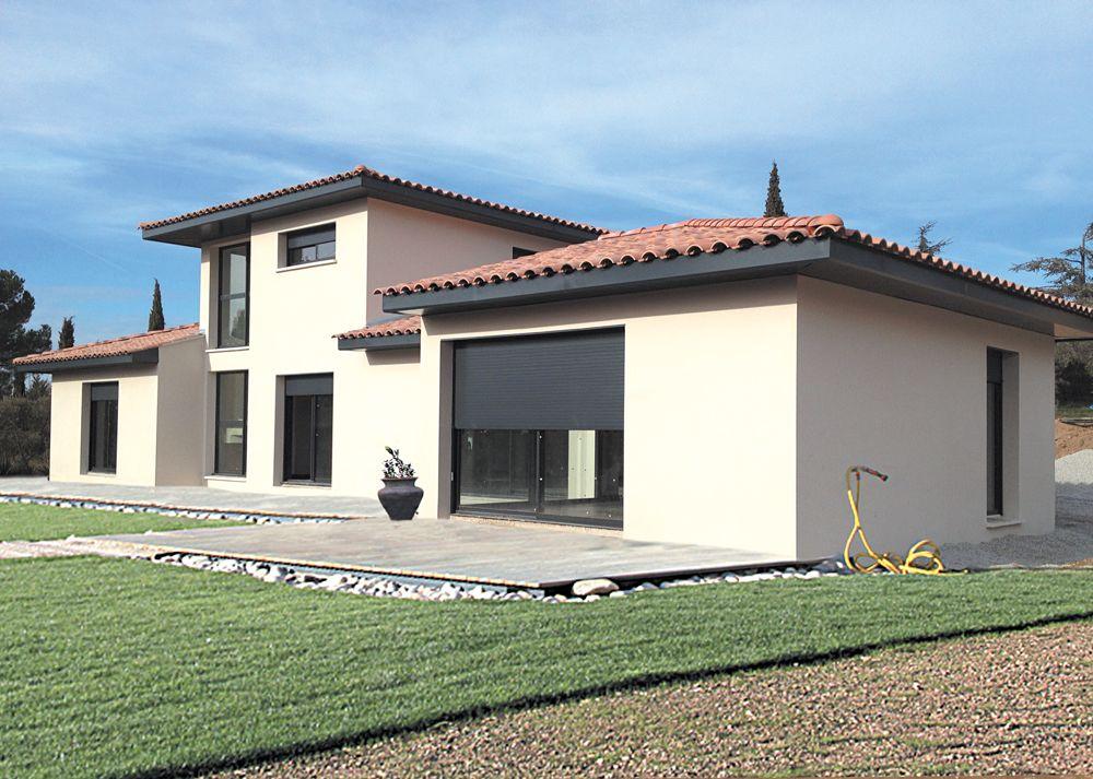 Villa Kervran C Pierre Guerville Portfolio Villas Concept Crepi Maison Facade Maison Couleur Facade Maison