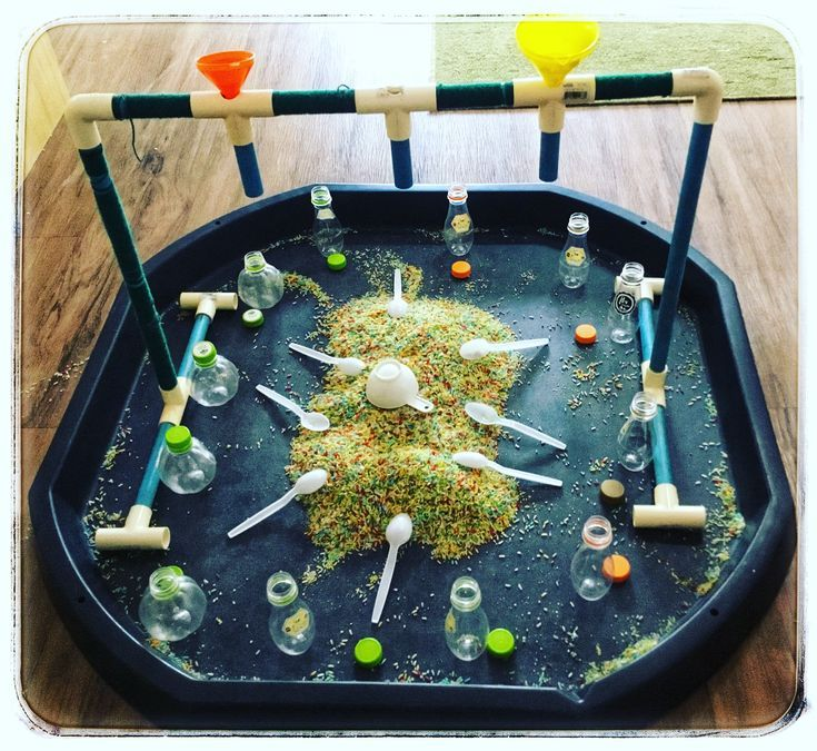 """Teaching & Learning on Instagram: """"Another great tuff tray idea, children absolutely loved it! #tufftray #eyfs #play #actividadesinfantiles #activitiesforkids…"""""""