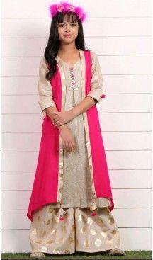 345f1552460 Orange Color Georgette Fabric Readymade Kids Girl Lehenga Choli ...