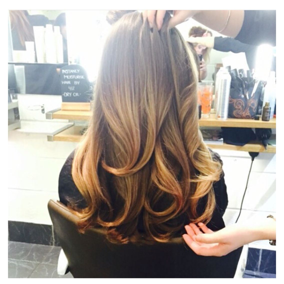 Luxury Bouncy Blow Dry Using Aveda Products And The O By Cloud Nine Curls For Long Hair Dry Long Hair Long Hair Styles