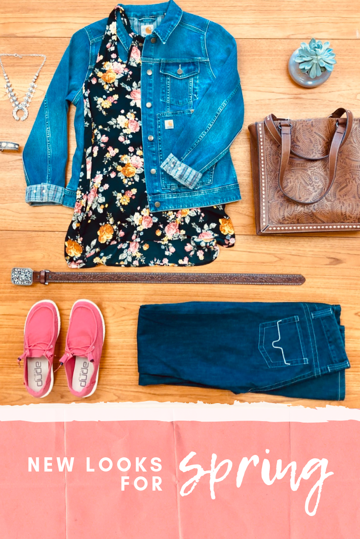 We Love This New Look For Spring Myjaxranchandhome Springstyles Newlook Create This Outfit Jean Jacket By Carhartt F Western Wear Summer Fashion New Look