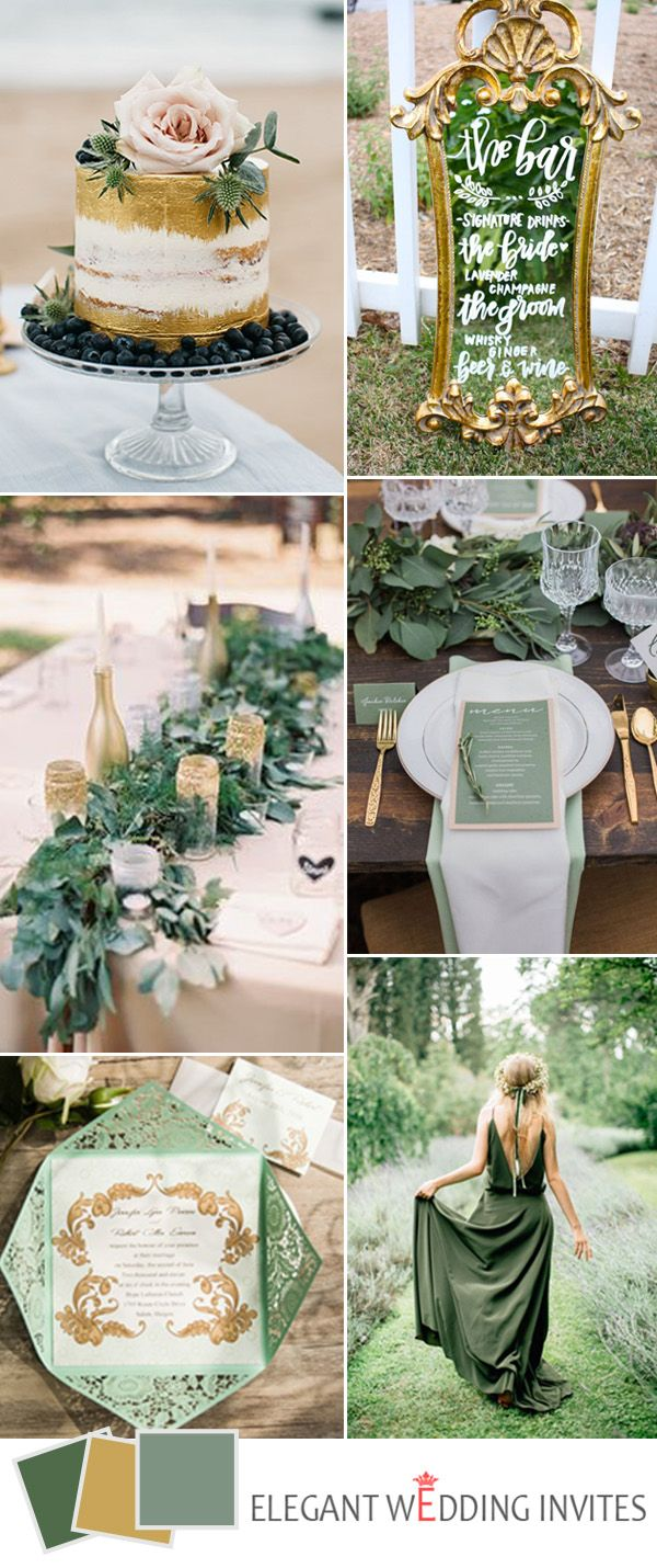 Top 5 greenery wedding color combos for 2017 spring trends for Wedding themes for september