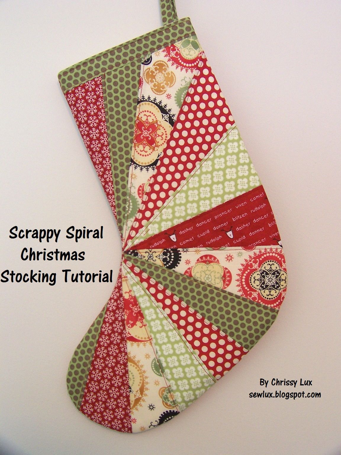 Free simple christmas stocking sewing patterns sew lux fabric free simple christmas stocking sewing patterns sew lux fabric and gifts blog scrappy spiral jeuxipadfo Gallery
