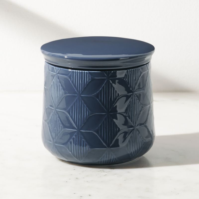 Zane Medium Blue Kitchen Canister   utensil holder   Kitchen ...