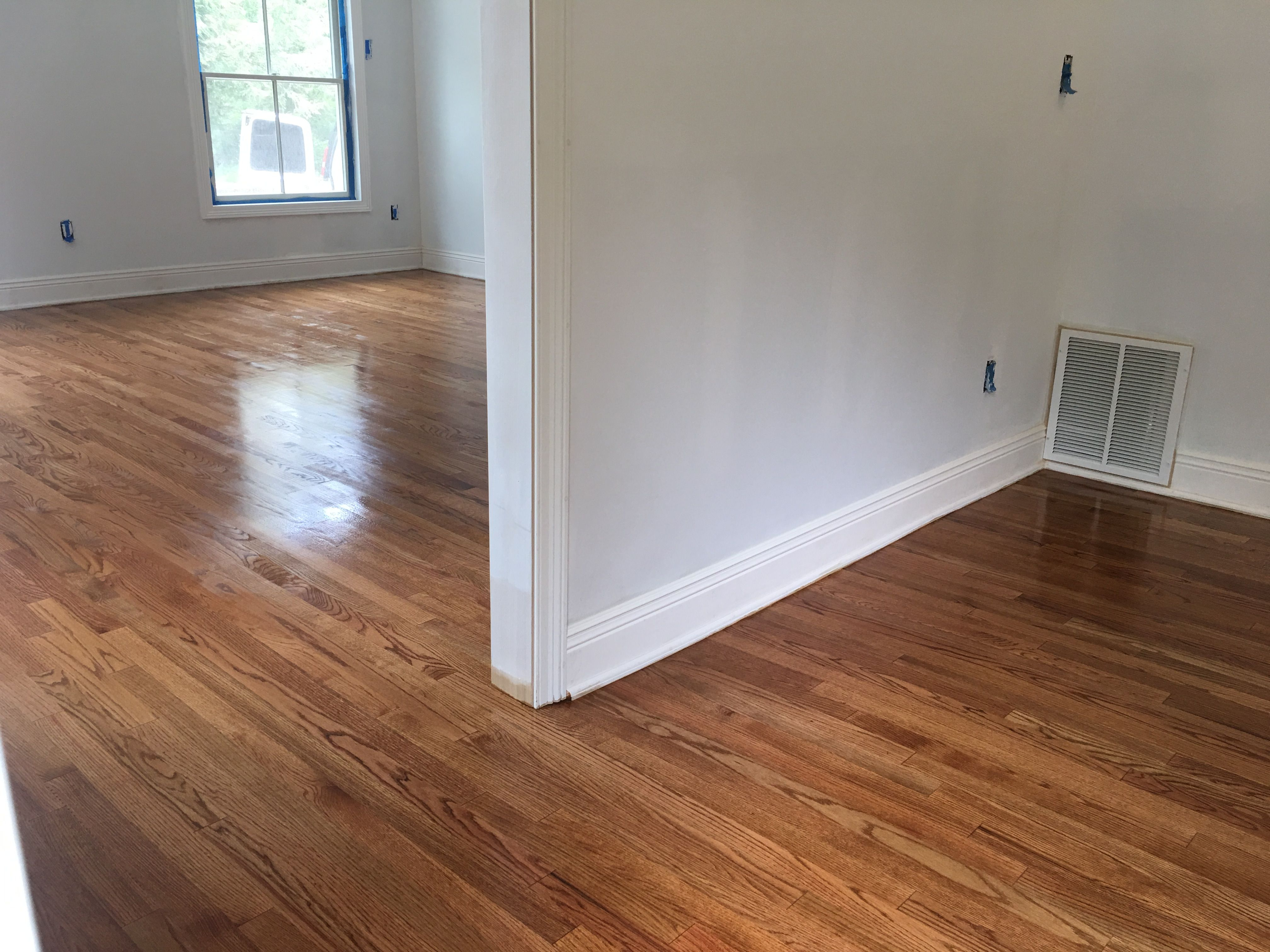 Select Red Oak With Golden Oak Stain By Dura Seal Oil