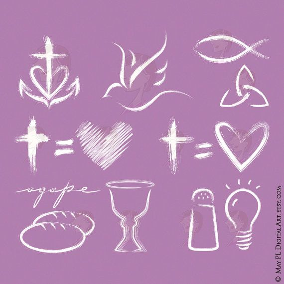 Easter Clipart Christian Graphic White Cross Equals Love Faith