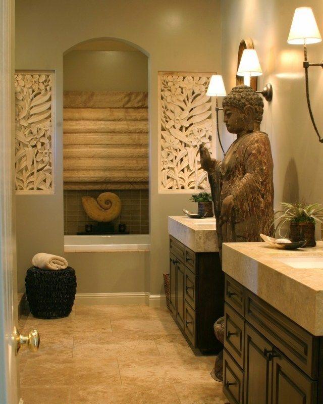Badezimmer Dekorative Wandelemente Florale Muster Eingeschnitzt
