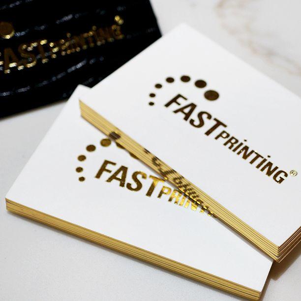 Gold foil finish gold foil edge on 600gsm soft cotton stock business cards gold foil finish colourmoves