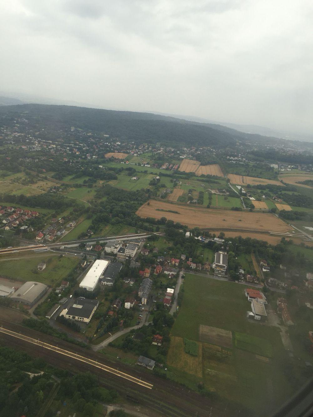 Birdseye view of Krakow, Poland