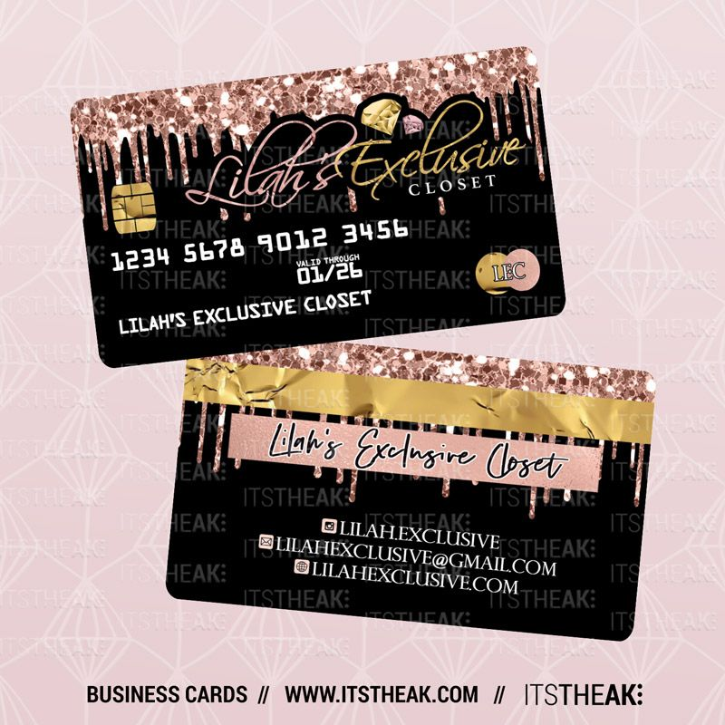 Credit Card Style Business Cards Itstheak Credit Card Design Hairstylist Business Cards Beauty Business Cards