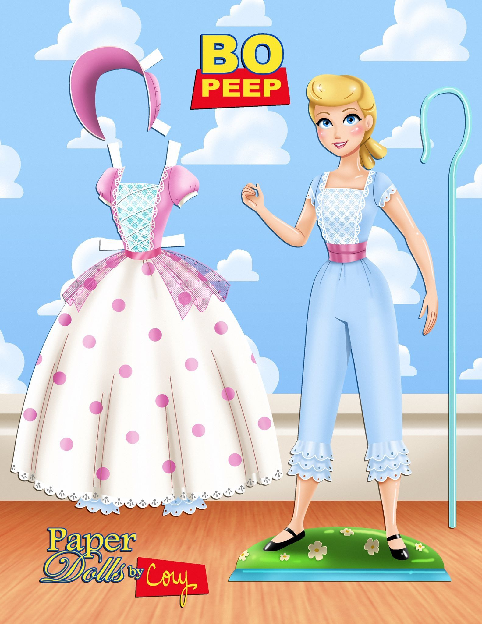 Bo Peep From Toy Story Paper Doll Paper Dolls Barbie Paper Dolls Paper Dolls Clothing