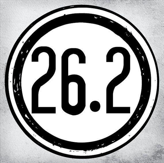26.2 Marathon Decal Sticker Vinyl Decals