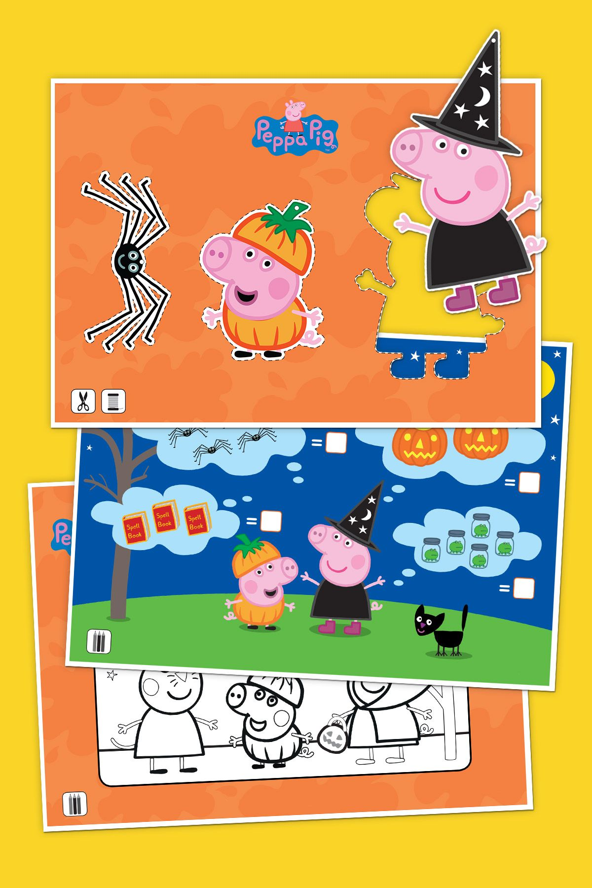 Peppa Pig Halloween Activity Pack Pig halloween, Peppa