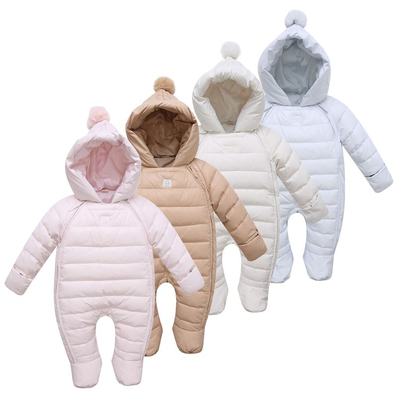 6236abf7a9d9 2015 New Arrival Jumpsuit Children Winter Down Jackets Baby Girl Coats