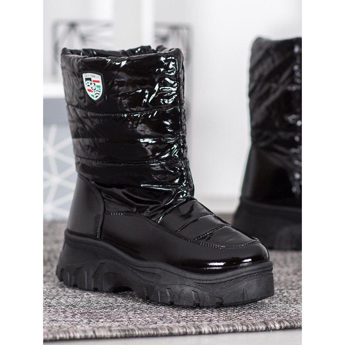 Shelovet Cieple Buty Zimowe Czarne Shoes Boots Winter Boot