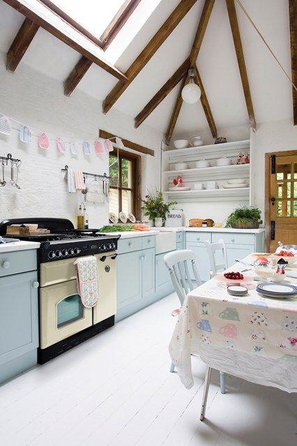 Country Pastels Cottage Kitchen Again Pastel Kitchen Kitchen