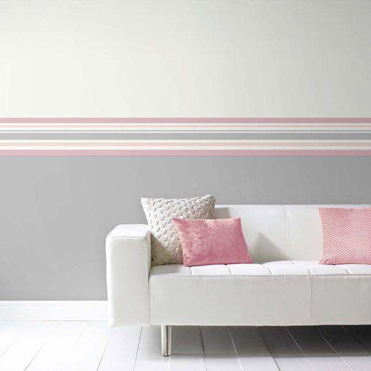 bienvenue chez d co pinterest vinyles rayures et gris. Black Bedroom Furniture Sets. Home Design Ideas