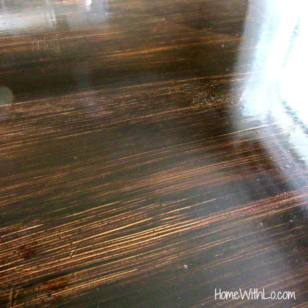 How I Refinished A Wood Veneer Table Top To