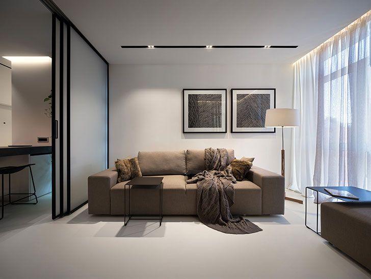 Minimalist Apartment For Artchitect's Family In Kyiv Ukraine 48 Simple Apartment Design Online Minimalist