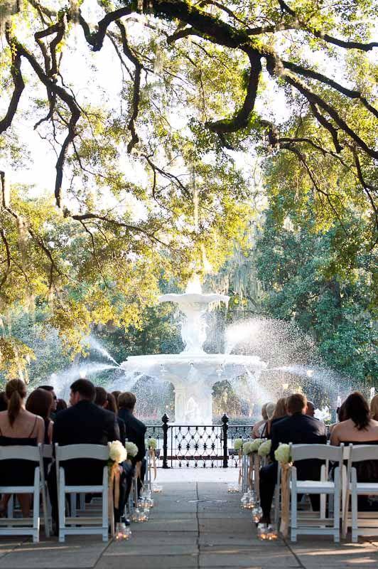 Forsythe Park Savannah Georgia wedding venue A wedding would be