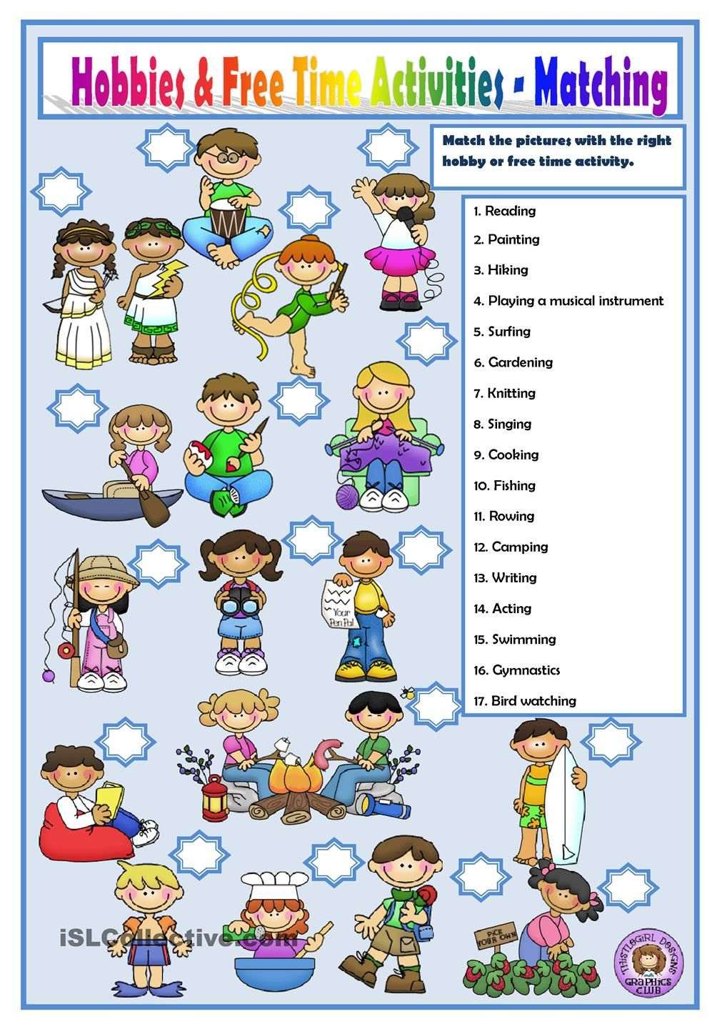 HOBBIES AND FREE TIME ACTIVITIES | Englisch | Pinterest | Englisch ...