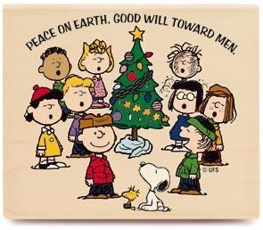$9.49*Peanuts PEANUTS GANG CAROLING Rubber Stamp KR1024 | Charlie brown christmas, Snoopy ...
