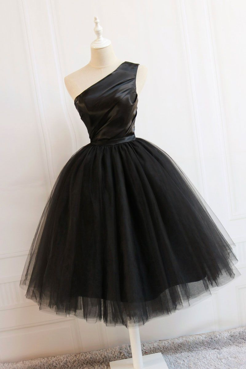 Cute black short prom dress black homecoming dress short prom